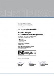 Berger-SHK_Zertifikat